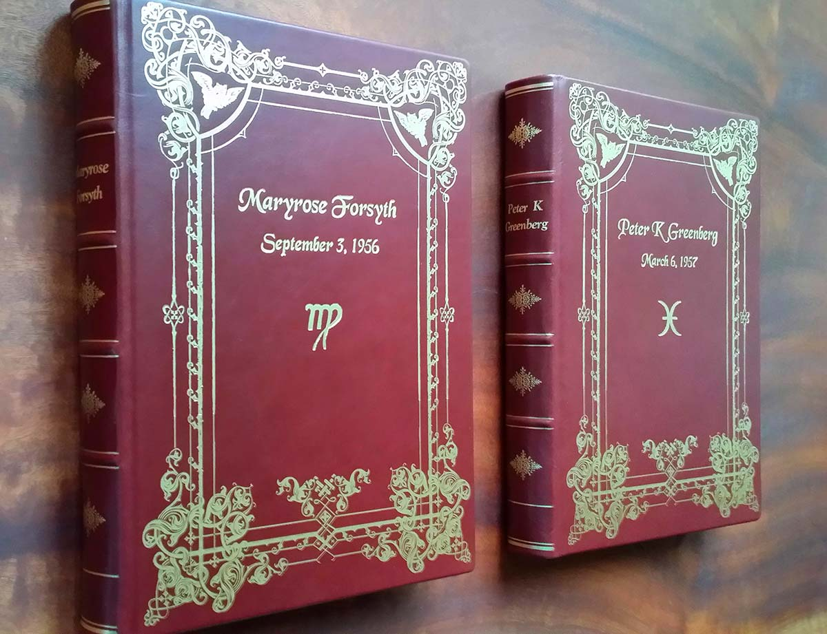red leather deluxe astrology book