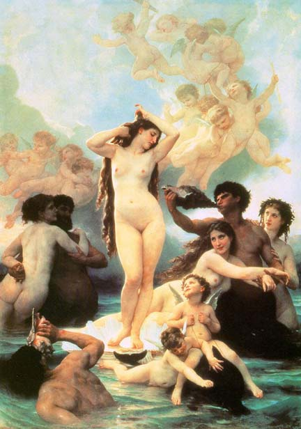 painting: Bouguereau's Birth of Venus