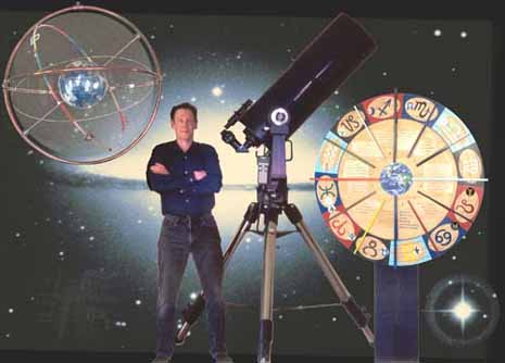 author with astrology/astronomy instruments