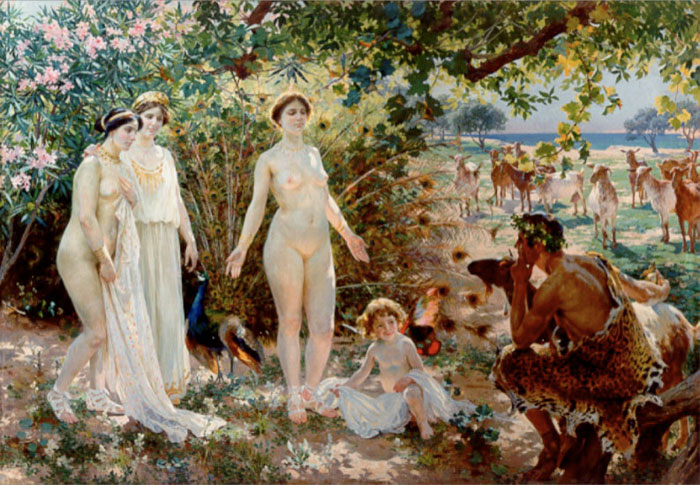 Large painting: Judgment of Paris