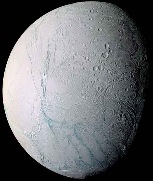 tiger stripes on Saturn's moon Enceladus